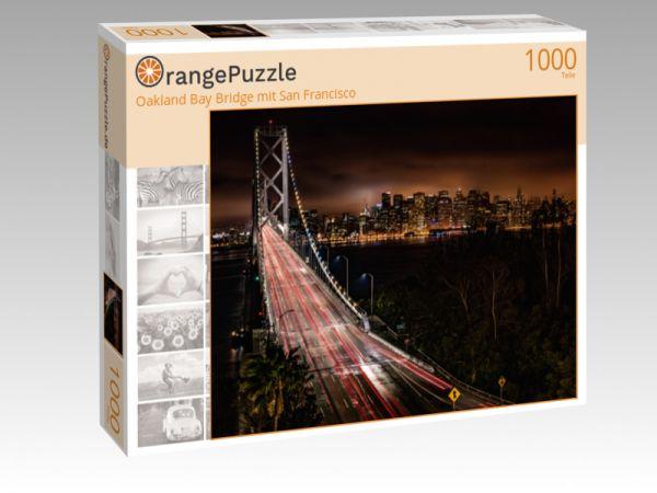 """Puzzle Motiv """"Oakland Bay Bridge mit San Francisco"""" - Puzzle-Schachtel zu 1000 Teile Puzzle"""