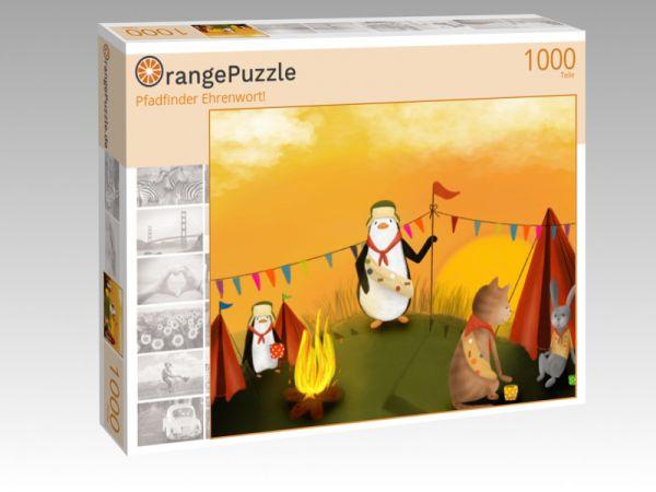"""Puzzle Motiv """"Pfadfinder Ehrenwort!"""" - Puzzle-Schachtel zu 1000 Teile Puzzle"""