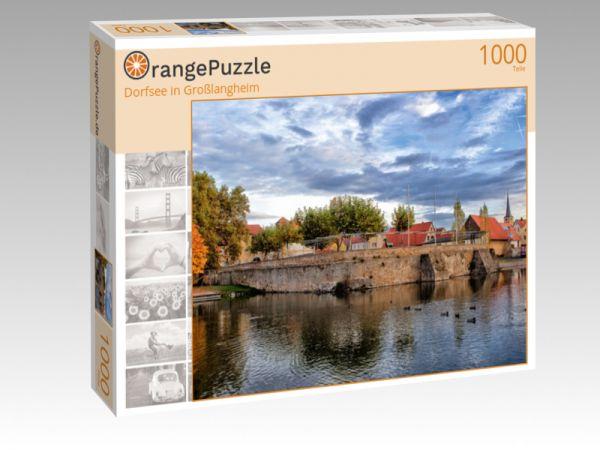 """Puzzle Motiv """"Dorfsee in Großlangheim"""" - Puzzle-Schachtel zu 1000 Teile Puzzle"""