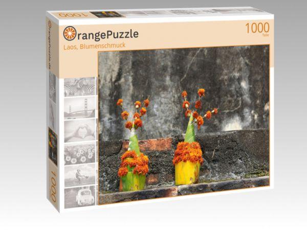 """Puzzle Motiv """"Laos, Blumenschmuck"""" - Puzzle-Schachtel zu 1000 Teile Puzzle"""