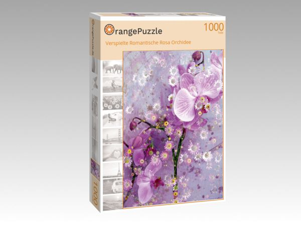 "Puzzle Motiv ""Verspielte Romantische Rosa Orchidee"" - Puzzle-Schachtel zu 1000 Teile Puzzle"