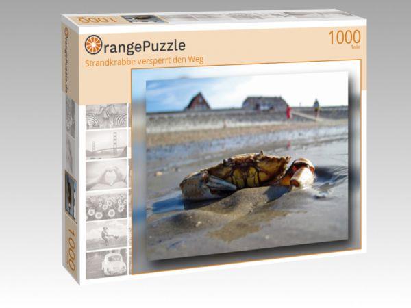 """Puzzle Motiv """"Strandkrabbe versperrt den Weg"""" - Puzzle-Schachtel zu 1000 Teile Puzzle"""