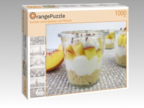 """Puzzle Motiv """"Kuchen ohne Backen mit Pfirsich"""" - Puzzle-Schachtel zu 1000 Teile Puzzle"""