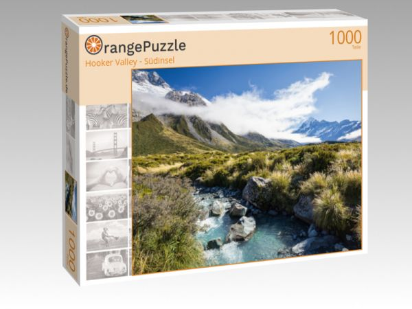 """Puzzle Motiv """"Hooker Valley - Südinsel"""" - Puzzle-Schachtel zu 1000 Teile Puzzle"""