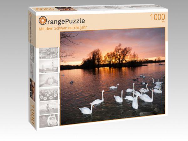 """Puzzle Motiv """"Mit dem Schwan durchs Jahr"""" - Puzzle-Schachtel zu 1000 Teile Puzzle"""