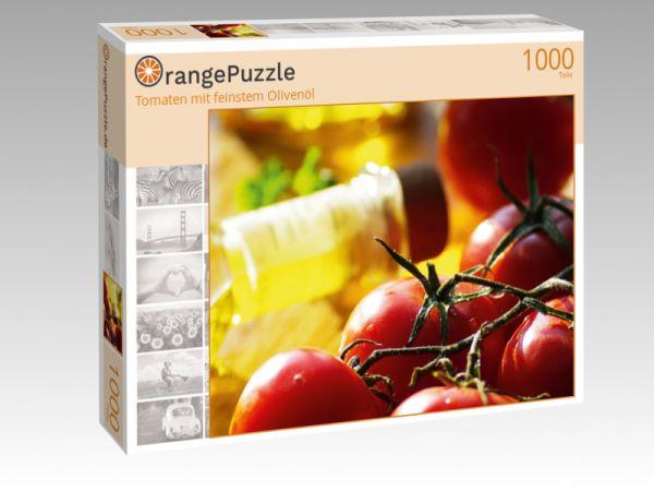 "Puzzle Motiv ""Tomaten mit feinstem Olivenöl"" - Puzzle-Schachtel zu 1000 Teile Puzzle"
