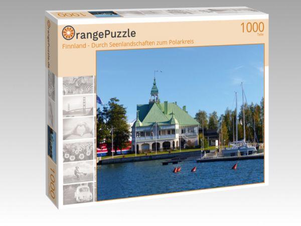 """Puzzle Motiv """"Finnland - Durch Seenlandschaften zum Polarkreis"""" - Puzzle-Schachtel zu 1000 Teile Puzzle"""