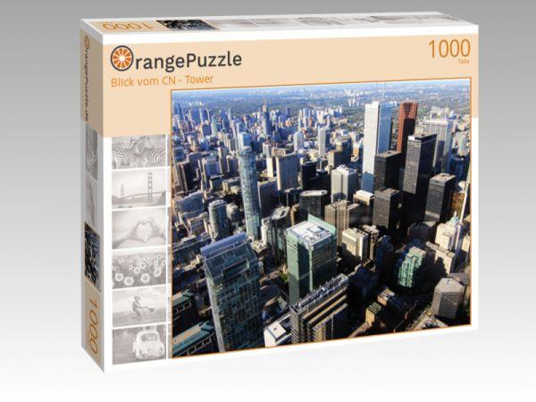 "Puzzle Motiv ""Blick vom CN - Tower"" - Puzzle-Schachtel zu 1000 Teile Puzzle"