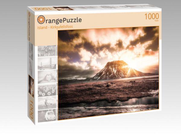 "Puzzle Motiv ""Island - Kirkjufellsfoss"" - Puzzle-Schachtel zu 1000 Teile Puzzle"