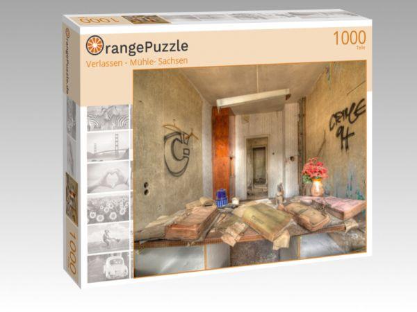 """Puzzle Motiv """"Verlassen - Mühle- Sachsen"""" - Puzzle-Schachtel zu 1000 Teile Puzzle"""