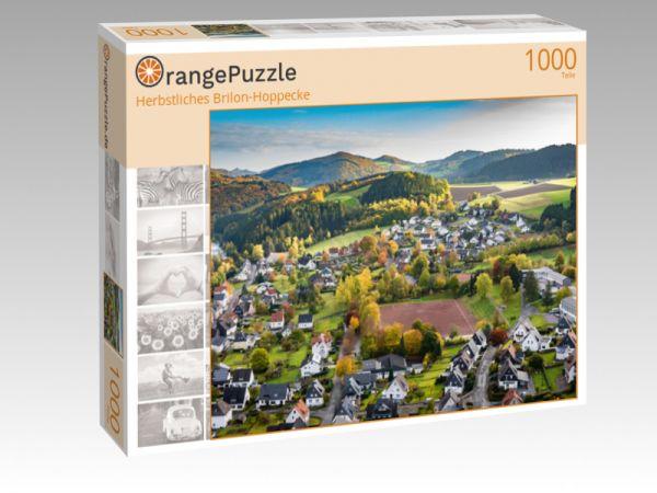 """Puzzle Motiv """"Herbstliches Brilon-Hoppecke"""" - Puzzle-Schachtel zu 1000 Teile Puzzle"""