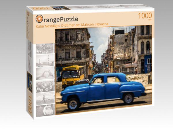 "Puzzle Motiv ""Kuba Nostalgie: Oldtimer am Malecon, Havanna"" - Puzzle-Schachtel zu 1000 Teile Puzzle"