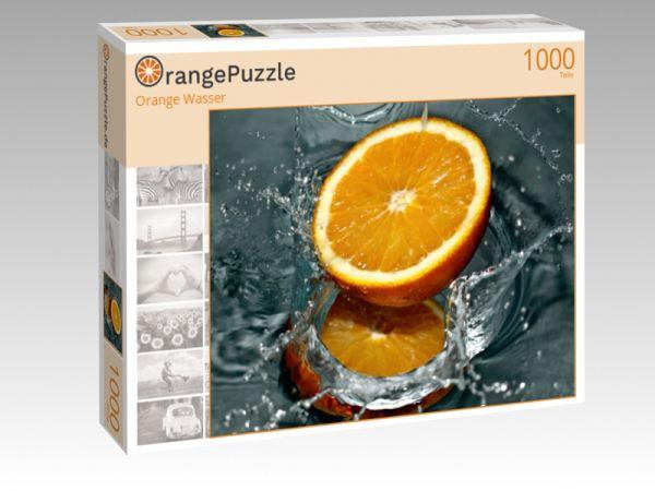 """Puzzle Motiv """"Orange Wasser"""" - Puzzle-Schachtel zu 1000 Teile Puzzle"""