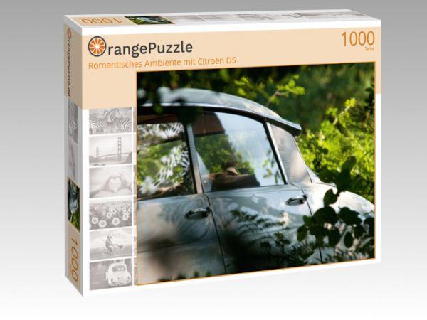 """Puzzle Motiv """"Romantisches Ambiente mit Citroën DS"""" - Puzzle-Schachtel zu 1000 Teile Puzzle"""