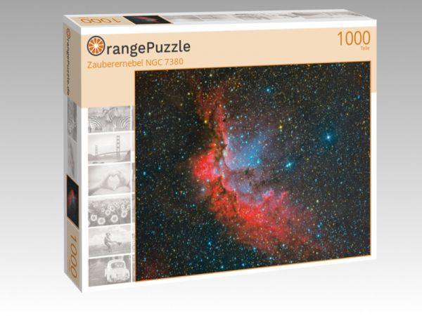 "Puzzle Motiv ""Zauberernebel NGC 7380"" - Puzzle-Schachtel zu 1000 Teile Puzzle"