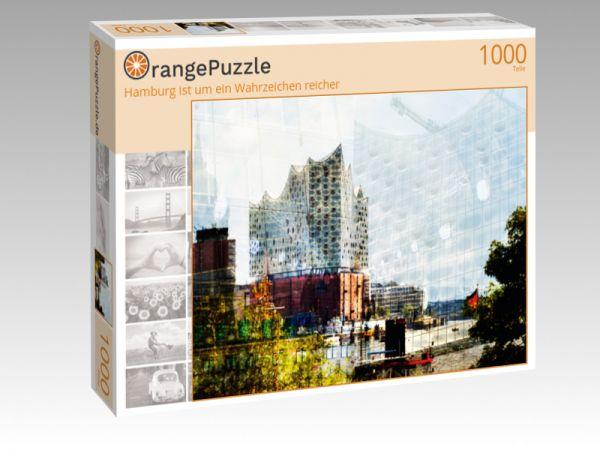 """Puzzle Motiv """"Hamburg ist um ein Wahrzeichen reicher"""" - Puzzle-Schachtel zu 1000 Teile Puzzle"""