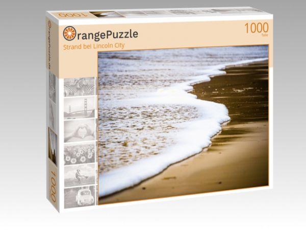 """Puzzle Motiv """"Strand bei Lincoln City"""" - Puzzle-Schachtel zu 1000 Teile Puzzle"""