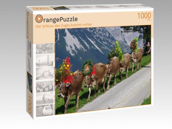 """Puzzle Motiv """"Der Schluss des Zuges kommt vorbei"""" - Puzzle-Schachtel zu 1000 Teile Puzzle"""