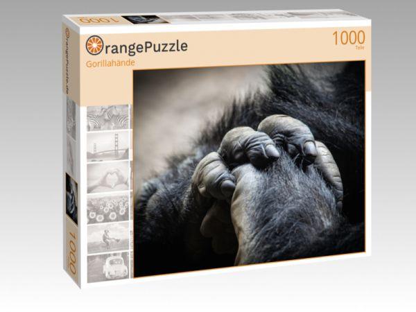 """Puzzle Motiv """"Gorillahände"""" - Puzzle-Schachtel zu 1000 Teile Puzzle"""