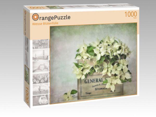 """Puzzle Motiv """"Weisse Blütenfülle"""" - Puzzle-Schachtel zu 1000 Teile Puzzle"""