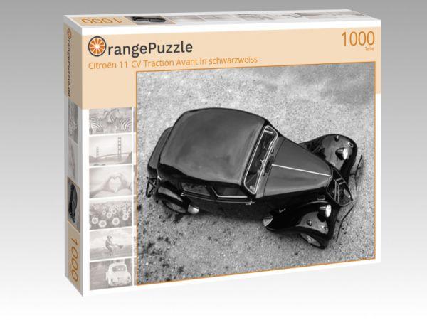 """Puzzle Motiv """"Citroën 11 CV Traction Avant in schwarzweiss"""" - Puzzle-Schachtel zu 1000 Teile Puzzle"""
