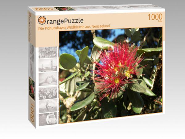 """Puzzle Motiv """"Die Pohutukawa Wildblume aus Neuseeland"""" - Puzzle-Schachtel zu 1000 Teile Puzzle"""