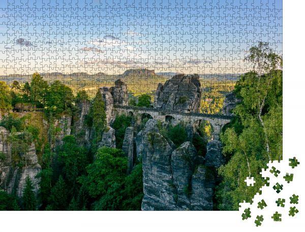 """Puzzle-Motiv """"Sachsen"""" - Puzzle-Schachtel zu 1000 Teile Puzzle"""