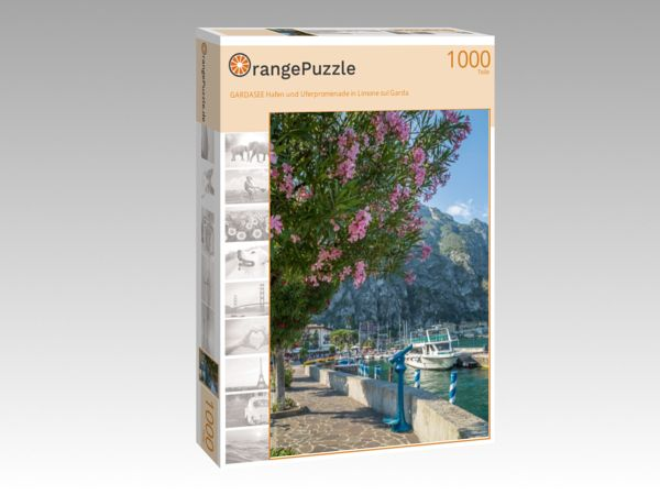 """Puzzle Motiv """"GARDASEE Hafen und Uferpromenade in Limone sul Garda"""" - Puzzle-Schachtel zu 1000 Teile Puzzle"""