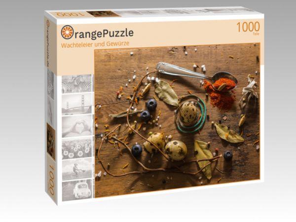 """Puzzle Motiv """"Wachteleier und Gewürze"""" - Puzzle-Schachtel zu 1000 Teile Puzzle"""