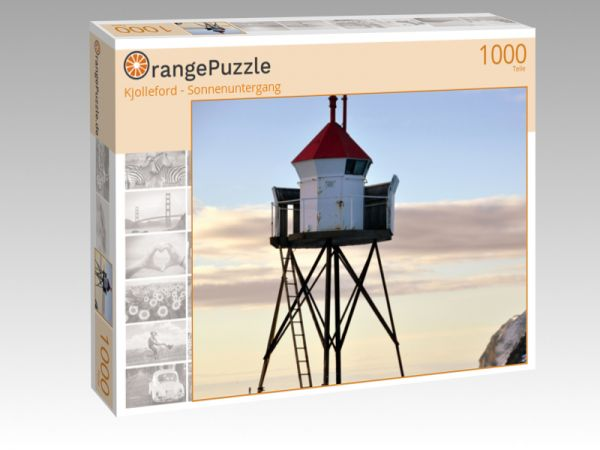 "Puzzle Motiv ""Kjolleford - Sonnenuntergang"" - Puzzle-Schachtel zu 1000 Teile Puzzle"