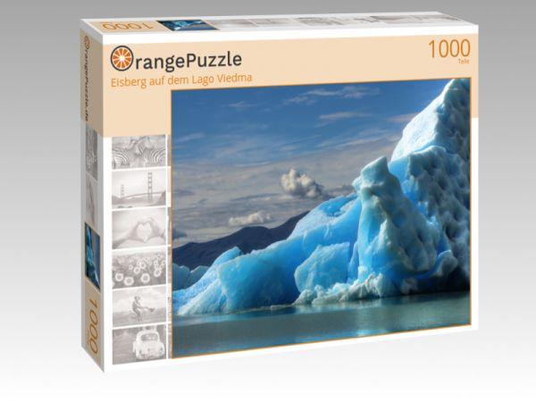 """Puzzle Motiv """"Eisberg auf dem Lago Viedma"""" - Puzzle-Schachtel zu 1000 Teile Puzzle"""