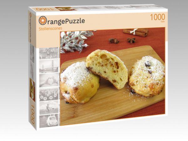 """Puzzle Motiv """"Stollenscones"""" - Puzzle-Schachtel zu 1000 Teile Puzzle"""