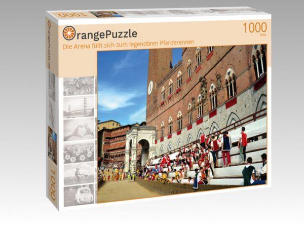 """Puzzle Motiv """"Die Arena füllt sich zum legendären Pferderennen"""" - Puzzle-Schachtel zu 1000 Teile Puzzle"""