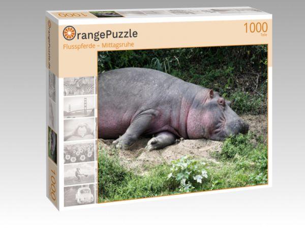 "Puzzle Motiv ""Flusspferde – Mittagsruhe"" - Puzzle-Schachtel zu 1000 Teile Puzzle"