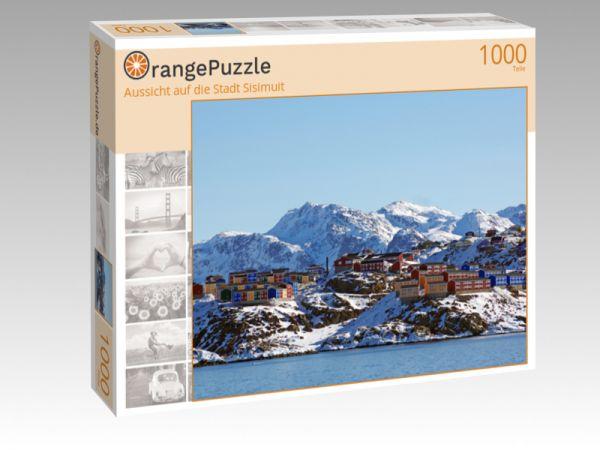 """Puzzle Motiv """"Aussicht auf die Stadt Sisimuit"""" - Puzzle-Schachtel zu 1000 Teile Puzzle"""