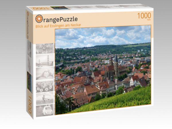 """Puzzle Motiv """"Blick auf Esslingen am Neckar"""" - Puzzle-Schachtel zu 1000 Teile Puzzle"""