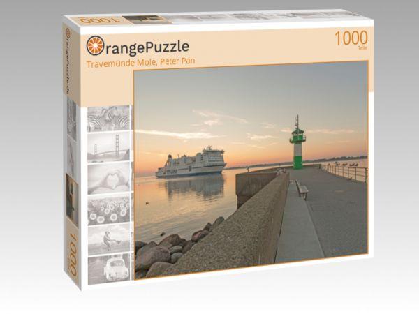 """Puzzle Motiv """"Travemünde Mole, Peter Pan"""" - Puzzle-Schachtel zu 1000 Teile Puzzle"""