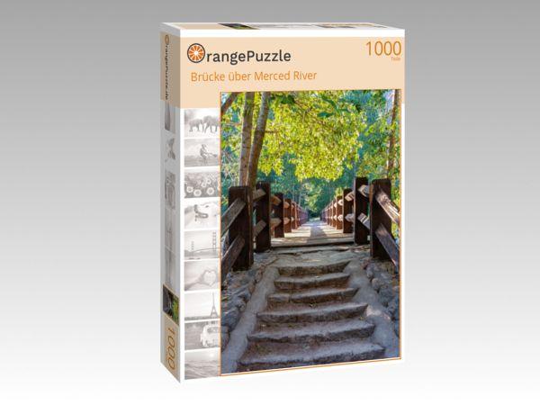 """Puzzle Motiv """"Brücke über Merced River"""" - Puzzle-Schachtel zu 1000 Teile Puzzle"""