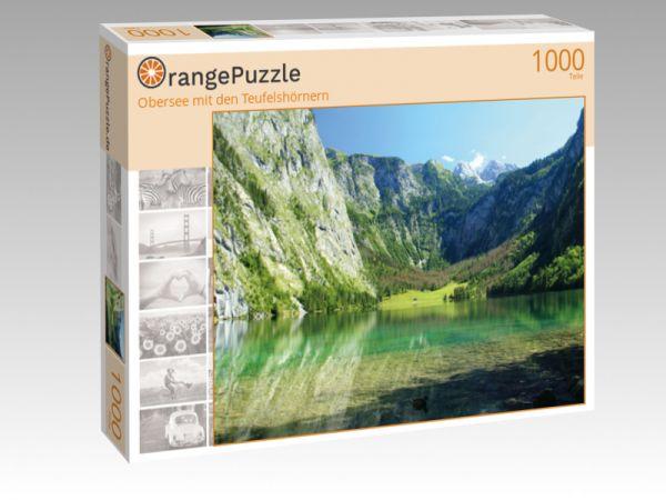 """Puzzle Motiv """"Obersee mit den Teufelshörnern"""" - Puzzle-Schachtel zu 1000 Teile Puzzle"""