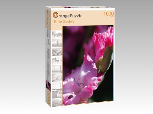 """Puzzle Motiv """"Pinke Gladiole"""" - Puzzle-Schachtel zu 1000 Teile Puzzle"""