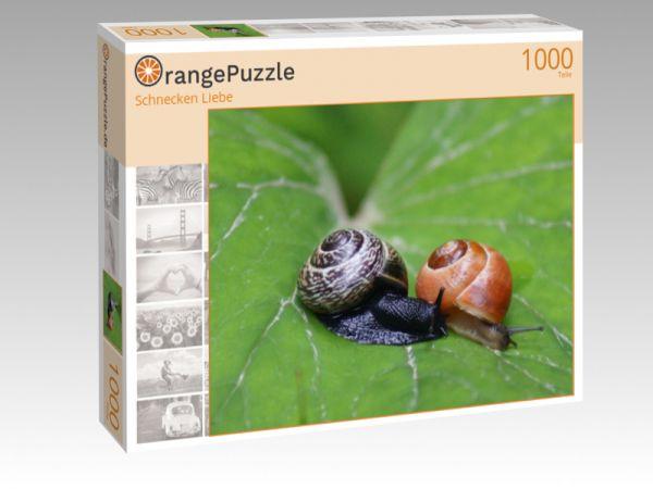 """Puzzle Motiv """"Schnecken Liebe"""" - Puzzle-Schachtel zu 1000 Teile Puzzle"""