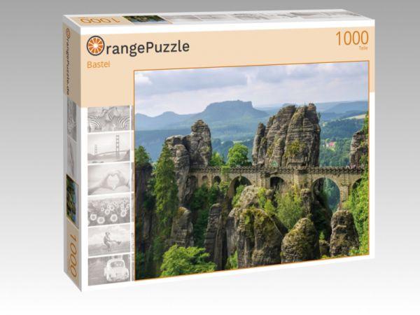 """Puzzle Motiv """"Bastei"""" - Puzzle-Schachtel zu 1000 Teile Puzzle"""