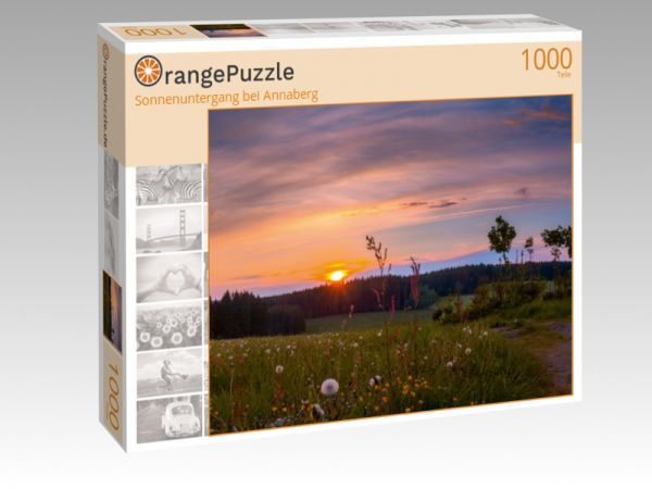"Puzzle Motiv ""Sonnenuntergang bei Annaberg"" - Puzzle-Schachtel zu 1000 Teile Puzzle"