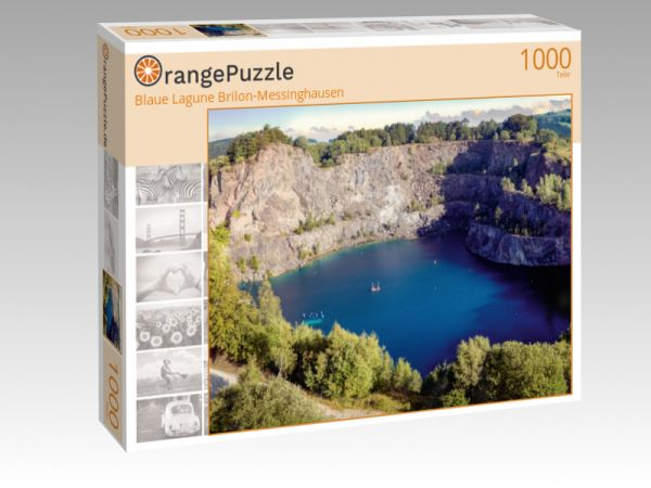 "Puzzle Motiv ""Blaue Lagune Brilon-Messinghausen"" - Puzzle-Schachtel zu 1000 Teile Puzzle"