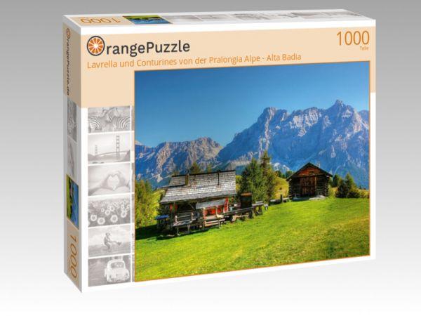 """Puzzle Motiv """"Lavrella und Conturines von der Pralongia Alpe - Alta Badia"""" - Puzzle-Schachtel zu 1000 Teile Puzzle"""
