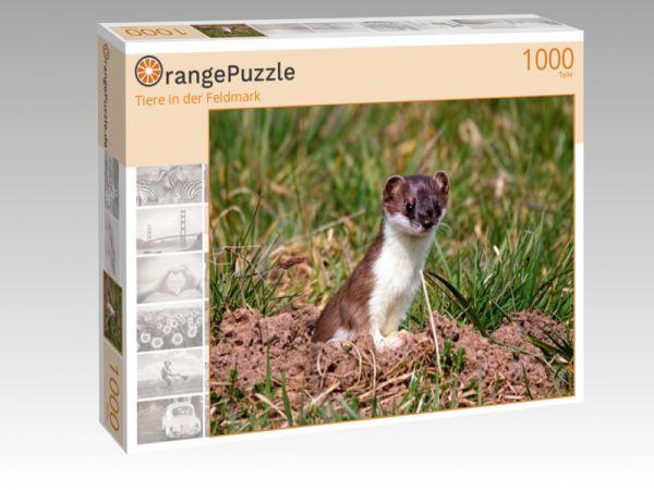 """Puzzle Motiv """"Tiere in der Feldmark"""" - Puzzle-Schachtel zu 1000 Teile Puzzle"""