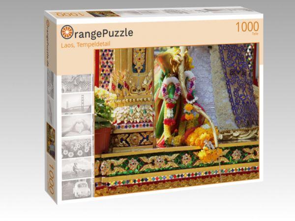 """Puzzle Motiv """"Laos, Tempeldetail"""" - Puzzle-Schachtel zu 1000 Teile Puzzle"""