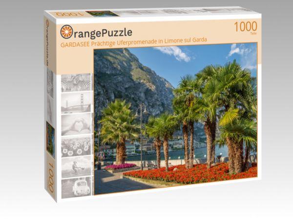 """Puzzle Motiv """"GARDASEE Prächtige Uferpromenade in Limone sul Garda"""" - Puzzle-Schachtel zu 1000 Teile Puzzle"""