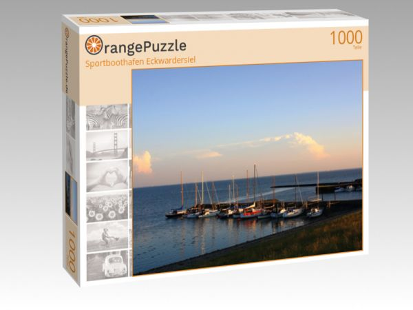 """Puzzle Motiv """"Sportboothafen Eckwardersiel"""" - Puzzle-Schachtel zu 1000 Teile Puzzle"""