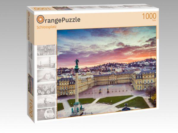"""Puzzle Motiv """"Schlossplatz"""" - Puzzle-Schachtel zu 1000 Teile Puzzle"""